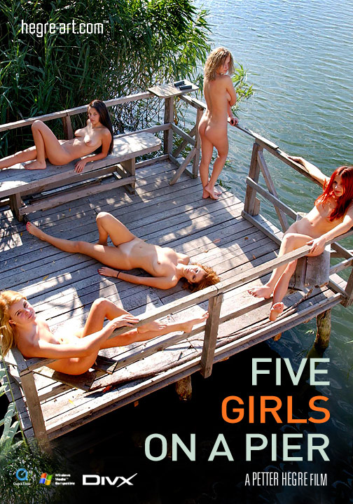 Tatiana - `#15 - Five Girls on a Pier` - by Petter Hegre for HEGRE-ART VIDEO
