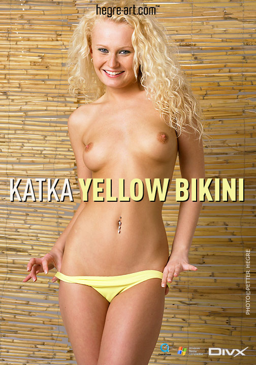 Katka - `#117 - Yellow bikini` - by Petter Hegre for HEGRE-ART VIDEO