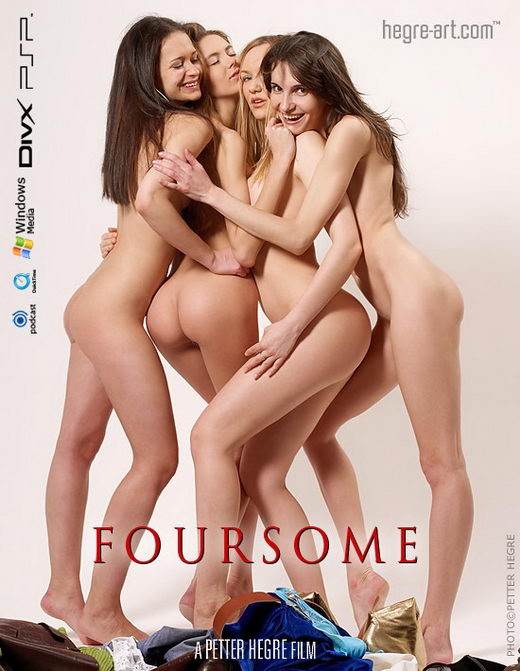 Alya in #175 - Foursome video from HEGRE-ART VIDEO by Petter Hegre