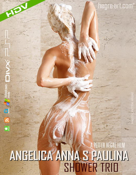 Angelica & Anna S & Paulina - `#243 - Shower Trio` - by Petter Hegre for HEGRE-ART VIDEO