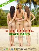 Krista & Lysa & Ruslana in #267 - Beach Babes video from HEGRE-ART VIDEO by Petter Hegre
