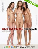 Krista & Lysa & Ruslana in #279 - Photosession video from HEGRE-ART VIDEO by Petter Hegre