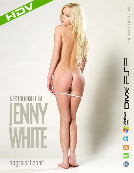 Jenny - `#293 - White` - by Petter Hegre for HEGRE-ART VIDEO