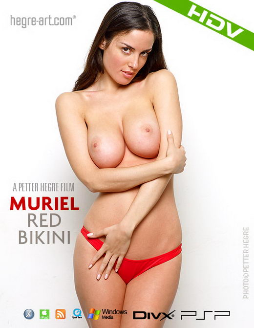 Muriel - `#288 - Red Bikini` - by Petter Hegre for HEGRE-ART VIDEO