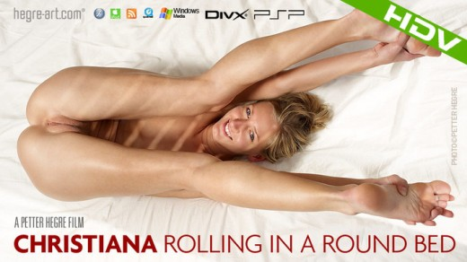 Christiana - `#326 - Rolling in a Round Bed` - by Petter Hegre for HEGRE-ART VIDEO