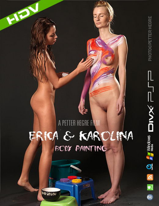 Erica & Karolina - `#353 - Body Painting` - by Petter Hegre for HEGRE-ART VIDEO