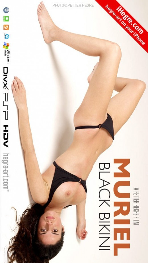 Muriel - `#357 - Black Bikini` - by Petter Hegre for HEGRE-ART VIDEO