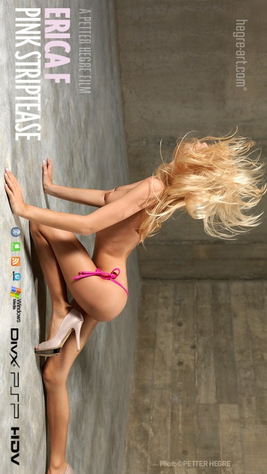 Erica F - `#385 - Pink Striptease` - by Petter Hegre for HEGRE-ART VIDEO