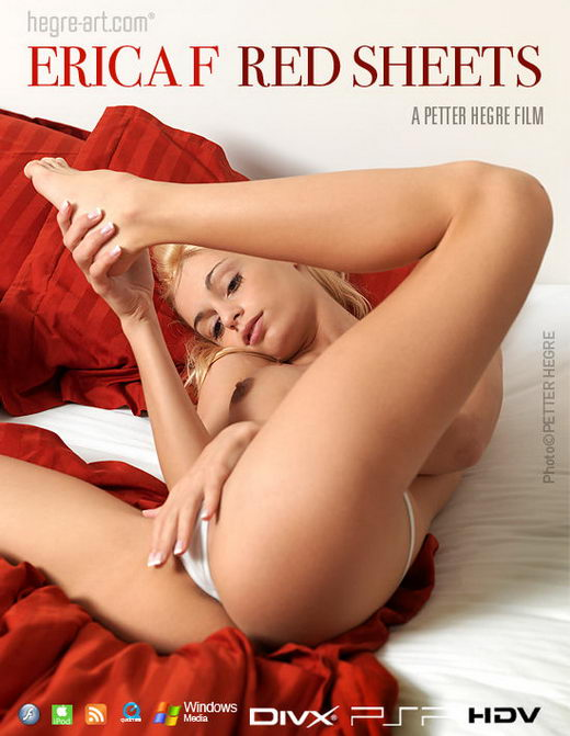 Erica F - `#398 - Red Sheets` - by Petter Hegre for HEGRE-ART VIDEO