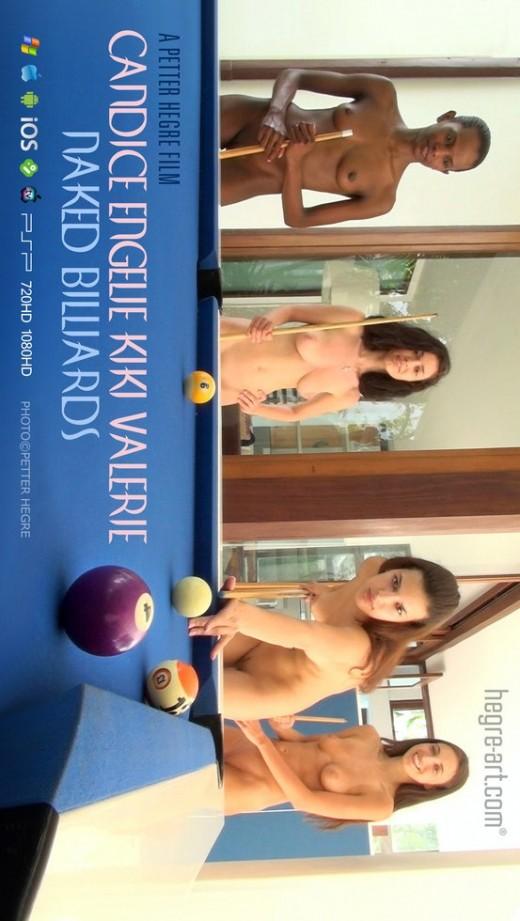 Candice & Engelie & Kiki & Valerie - `#425 - Naked Billiards` - by Petter Hegre for HEGRE-ART VIDEO