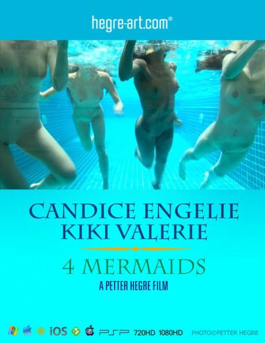 Candice & Engelie & Kiki & Valerie - `#428 - 4 Mermaids` - by Petter Hegre for HEGRE-ART VIDEO