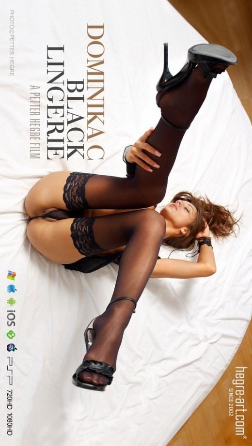 Dominika C - `#443 - Black Lingerie` - by Petter Hegre for HEGRE-ART VIDEO