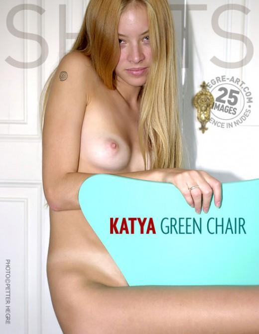 Katya - `Green Chair` - by Petter Hegre for HEGRE-ART