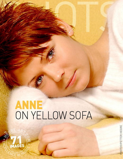 Anne - `On Yellow Sofa` - by Petter Hegre for HEGRE-ART