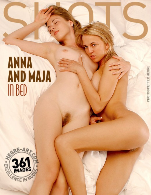 Anna & Maja - `In Bed` - by Petter Hegre for HEGRE-ART