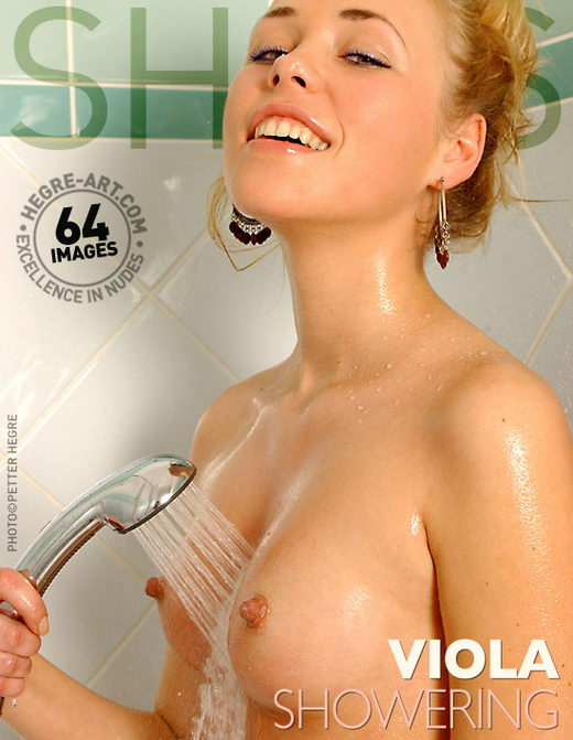 Viola - `Showering` - by Petter Hegre for HEGRE-ART