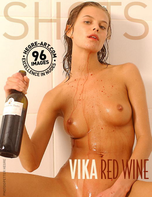 Vika - `Red Wine` - by Petter Hegre for HEGRE-ART
