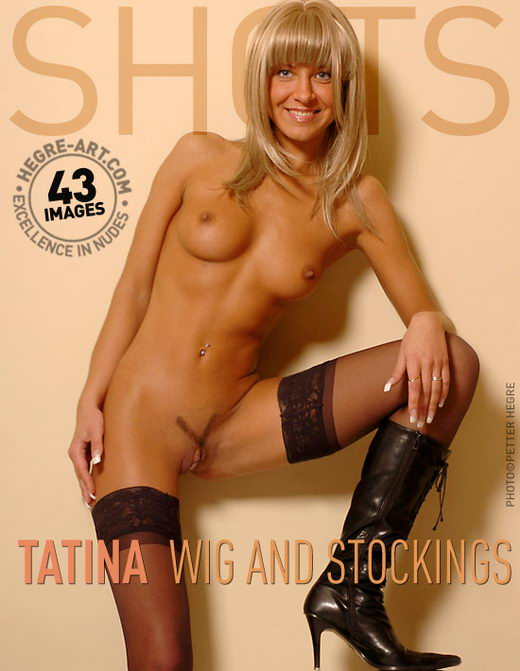 Tatina - `Wig And Stockings` - by Petter Hegre for HEGRE-ART