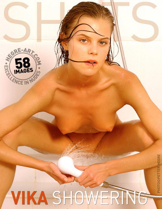 Vika - `Showering` - by Petter Hegre for HEGRE-ART