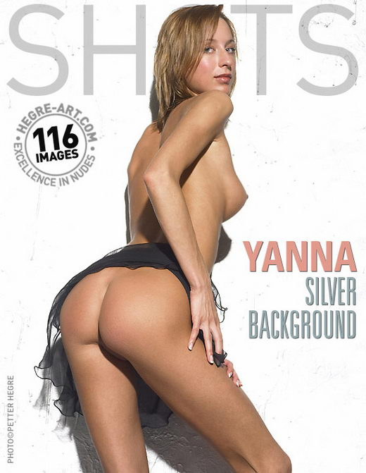 Yanna - `Silver Background` - by Petter Hegre for HEGRE-ART