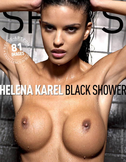 Helena Karel - `Black Shower` - by Petter Hegre for HEGRE-ART