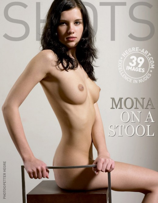 Mona - `On A Stool` - by Petter Hegre for HEGRE-ART