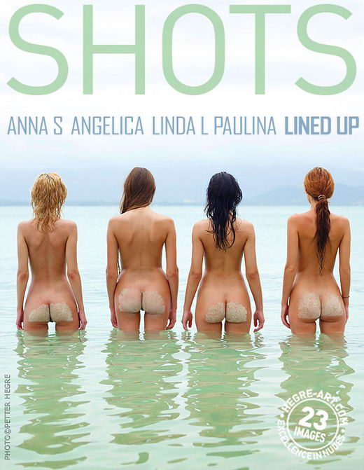 Anna S & Angelica & Linda L & Paulina - `Lined Up` - by Petter Hegre for HEGRE-ART