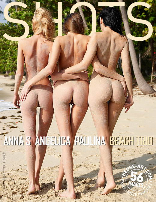 Anna S & Angelica & Paulina - `Beach Trio` - by Petter Hegre for HEGRE-ART