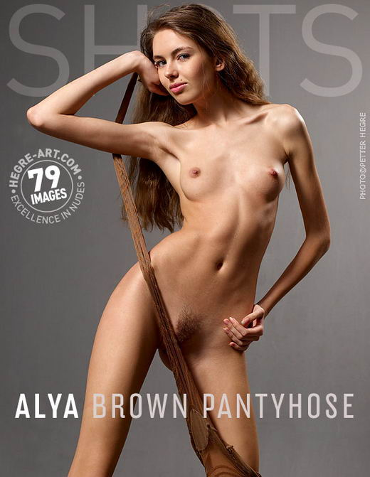 Alya - `Brown Pantyhose` - by Petter Hegre for HEGRE-ART