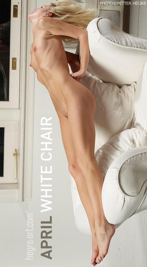April - `White Chair` - by Petter Hegre for HEGRE-ART