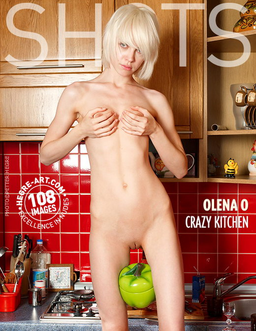 Olena O - `Crazy Kitchen` - by Petter Hegre for HEGRE-ART
