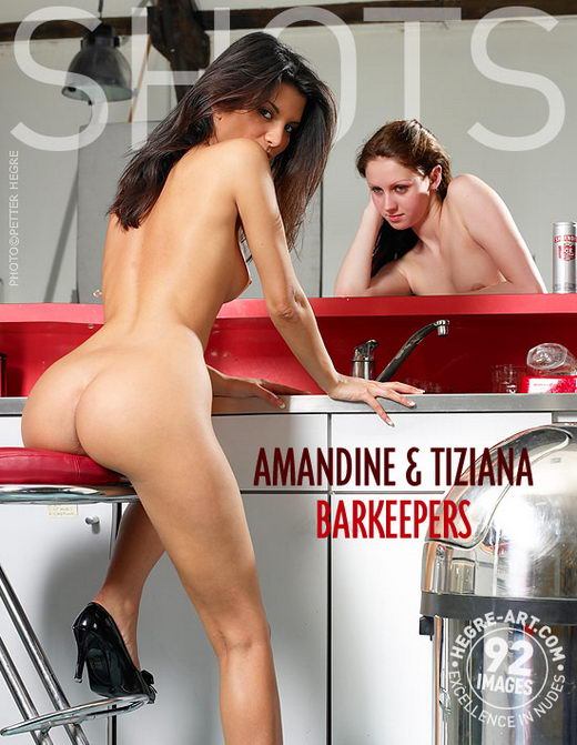 Amandine & Tiziana - `Bar Keepers` - by Petter Hegre for HEGRE-ART