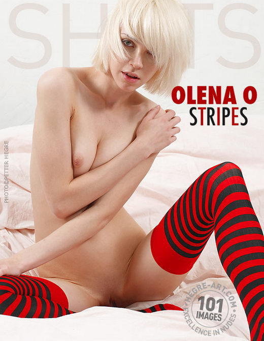 Olena O - `Stripes` - by Petter Hegre for HEGRE-ART