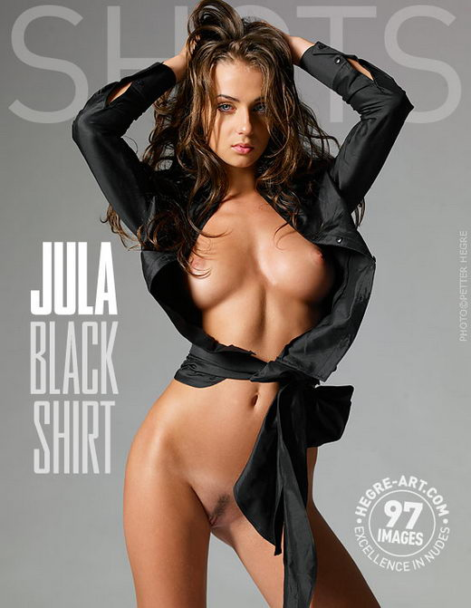 Jula - `Black Shirt` - by Petter Hegre for HEGRE-ART