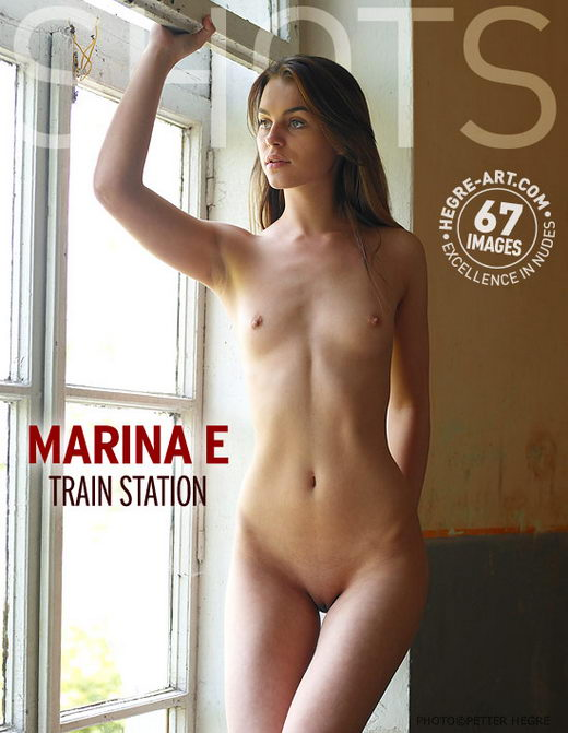 Marina E - `Train Station` - by Petter Hegre for HEGRE-ART