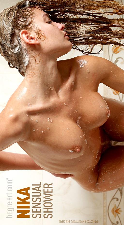 Nika - `Sensual Shower` - by Petter Hegre for HEGRE-ART