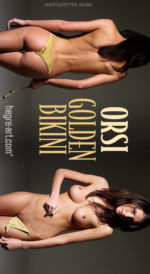 Orsi - `Golden Bikini` - by Petter Hegre for HEGRE-ART