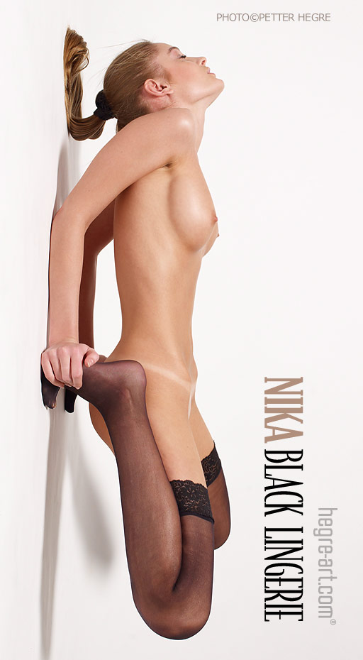 Nika - `Black Lingerie - Part 1` - by Petter Hegre for HEGRE-ART