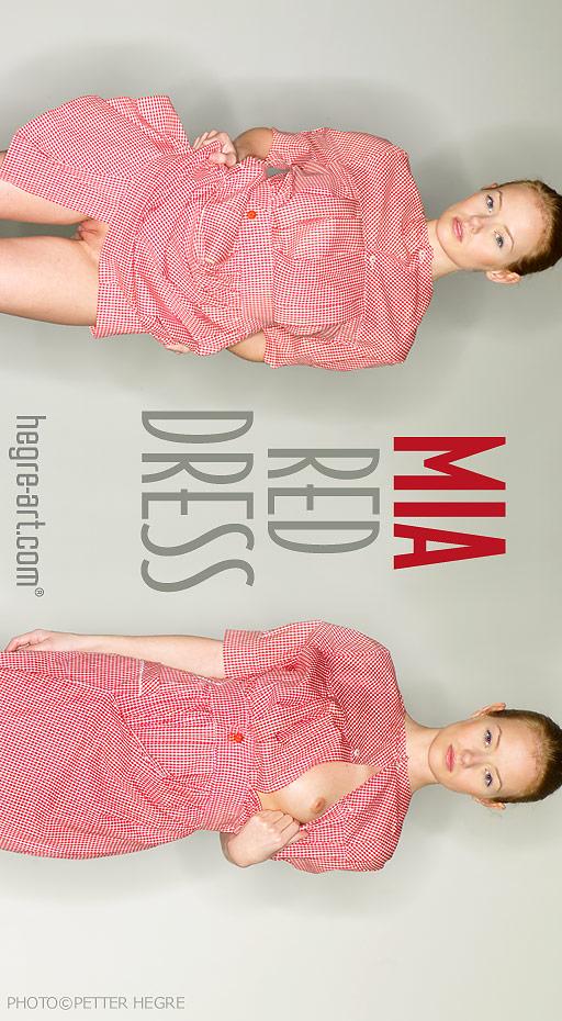 Mia - `Red Dress` - by Petter Hegre for HEGRE-ART