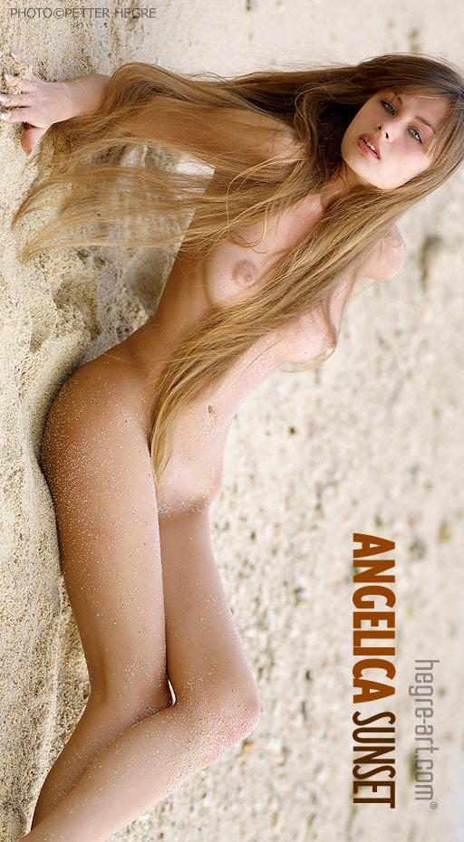 Angelica - `Sunset` - by Petter Hegre for HEGRE-ART