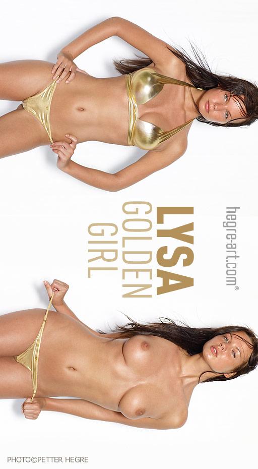 Lysa - `Golden Girl` - by Petter Hegre for HEGRE-ART