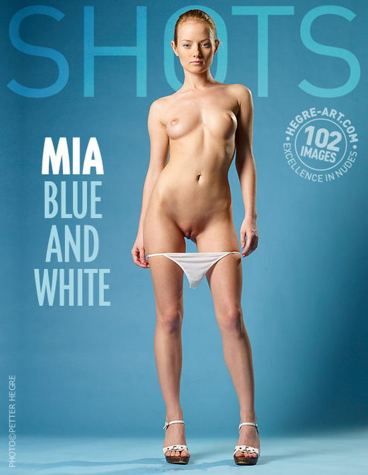 Mia - `Blue And White` - by Petter Hegre for HEGRE-ART