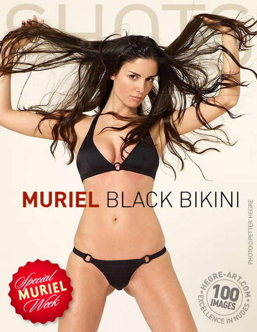 Muriel - `Black Bikini` - by Petter Hegre for HEGRE-ART