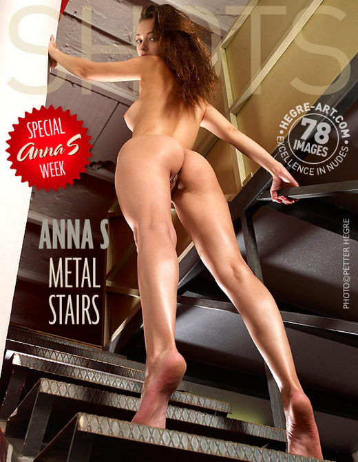 Anna S - `Metal Stairs` - by Petter Hegre for HEGRE-ART