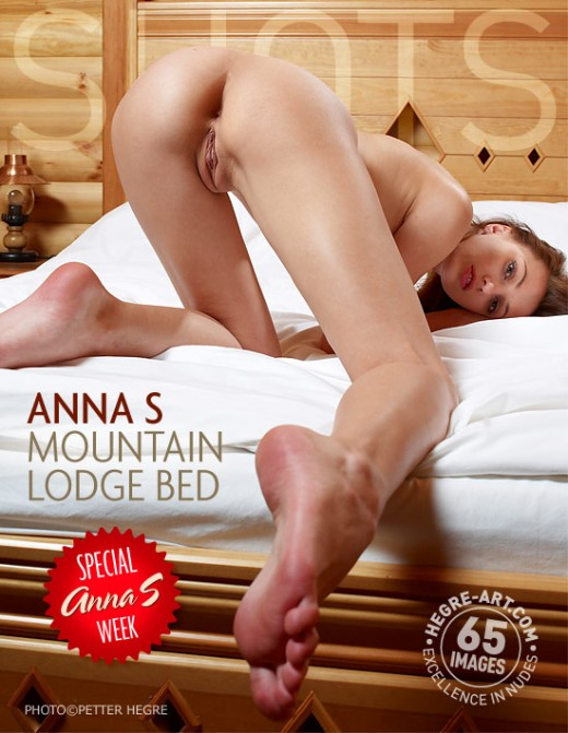 Anna S - `Mountain Lodge Bed` - by Petter Hegre for HEGRE-ART