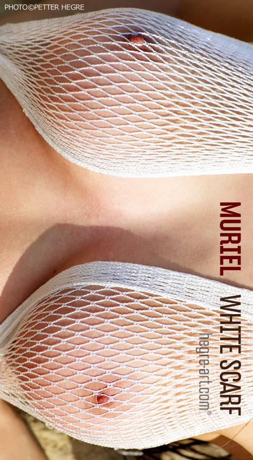 Muriel - `White Scarf` - by Petter Hegre for HEGRE-ART