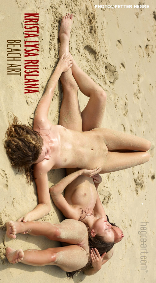 Krista & Lysa & Ruslana - `Beach Art` - by Petter Hegre for HEGRE-ART