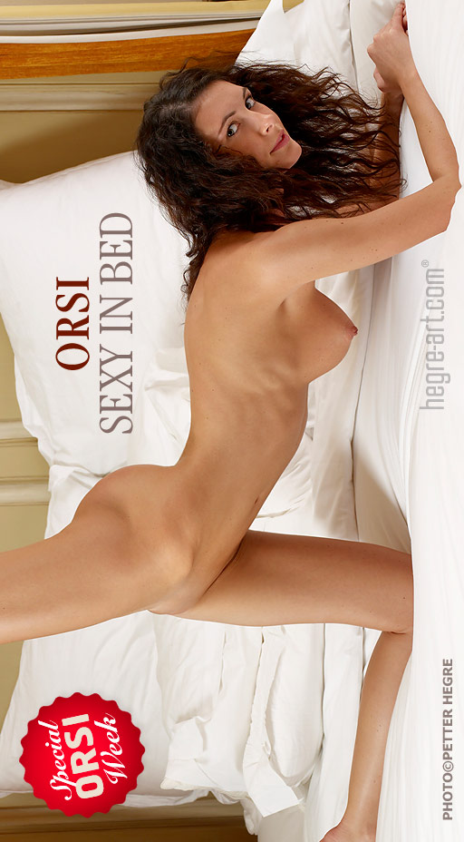 Orsi - `Sexy In Bed` - by Petter Hegre for HEGRE-ART
