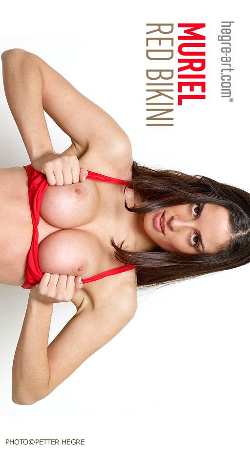 Muriel - `Red Bikini` - by Petter Hegre for HEGRE-ART