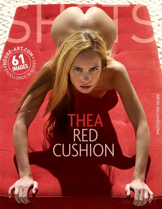 Thea - `Red Cushion` - by Petter Hegre for HEGRE-ART